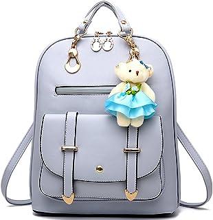 حقيبة ظهر للنساء ذات سعة كبيرة من الجلد حقائب كتف صغيرة لطيفة للبنات