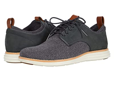Cole Haan Original Grand Stitchlite Saddle Ox (Gray Pinstripe Knit/Nubuck/Ivory) Men