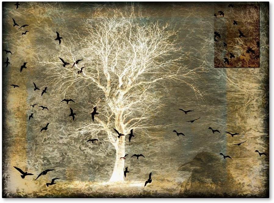 Phoenix Mall A Raven's World Spirit Tree 14x19-Inch by Phoenix Mall Canva LightBoxJournal