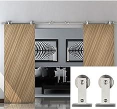 Type porte de grange en bois Porte coulissante Hahaemall Rail en acier inoxydable Cloison