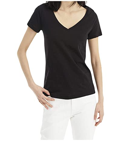 J.Crew Vintage Cotton V-Neck Tee (Black) Women