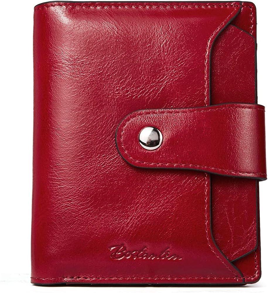 Bostanten portafoglio porta carte di credito da donna in vera pelle BL3184283K-60