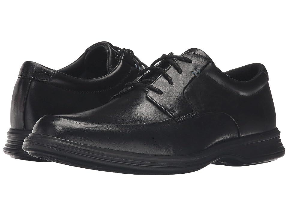Rockport Dressports 2+ Light Apron Toe (Black Leather) Men