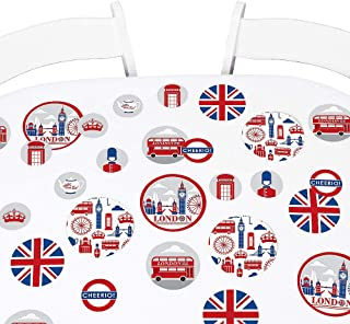 Big Dot of Happiness Cheerio, London - British UK Party Giant Circle Confetti - Party Decorations - Large Confetti 27 Count