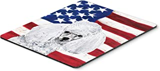 Caroline's Treasures White Toy Poodle with American Flag USA Mouse Pad/Hot Pad/Trivet (SC9629MP)