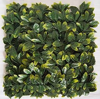 Greensmart Décor - Juego de 4 Alfombrillas para vegetación, diseño de Hojas de limón Artificiales, 50,8 x 50,8 cm