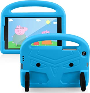 PULEN for Samsung Galaxy Tab A Kids Edition (2019) 8'' Case,Shock Proof Light Weight Convertible Handle Stand Cover Sky Bl...