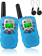 Slopehill Walkie Talkies for Kids, 3 Mile Kids Handheld Walkie Talkie with Backlit LCD Flashlight, Funny Gifts Toy for 4 to 12 Year Old Girls Boys, 22 Channel HD Sound 2 Way Radio, Blue