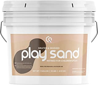 Natural Play Sand, 1 Gallon Bucket, Refined, Washed & Grated for Premium Quality, Durable, Resealable Bucket, Safe for Indoors & Outdoors, Multi-use, Natural Source, Satisfaction Guarantee