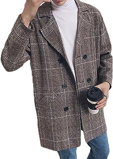 PIITE メンズ チェスターコート 冬 柔らかい ロングアウター ファッション チェック柄 かっこいい カジュアル ビジネス ロングコート 防風 大きいサイズ 韓国風 オーバーコート