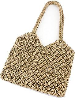 GSERA Frauen Vintage Gewebte Umhängetasche Beach Tote Geldbörse Travel Straw Bag