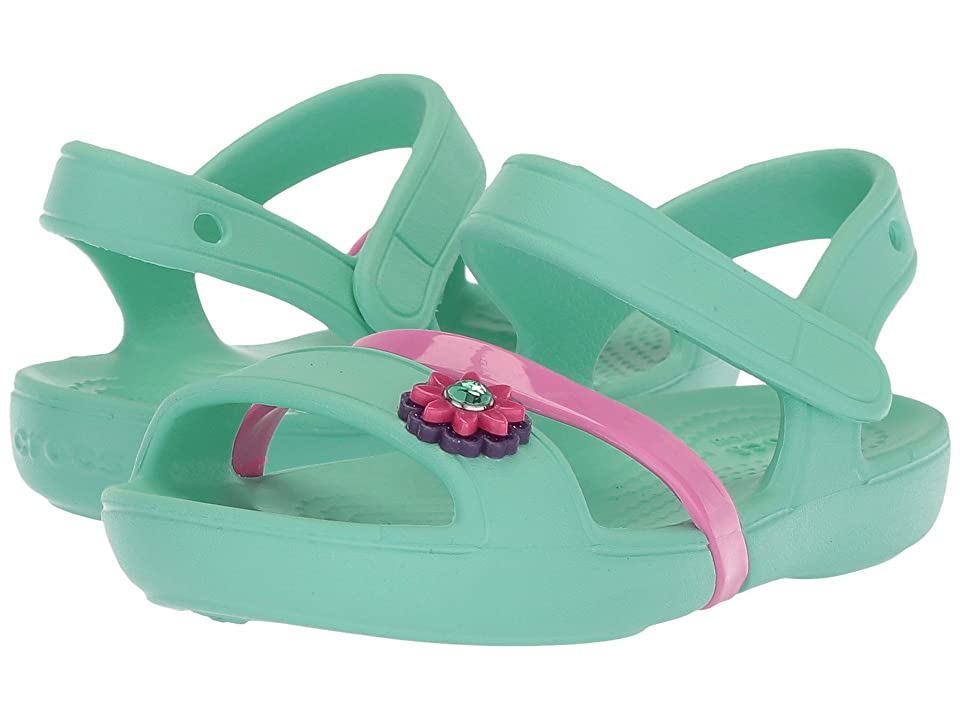 a628e24c4 Crocs Kids Lina Sandal (Toddler Little Kid) (Mint) Girls Shoes -  4205609 5 Toddler M by Crocs Kids