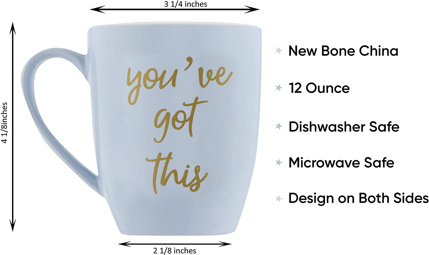 Get Well Soon Gifts for Women Blue Youve Got This Coffee Mugs for Women Microwave and Dishwasher Safe 12 oz Inspirational Gifts for Women Coffee Cup