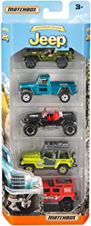 Matchbox Anniversary Edition Jeep 5-Pack, Multicolor