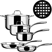 Duxtop SSC-9PC Cookware, 9PC, Stainless Steel