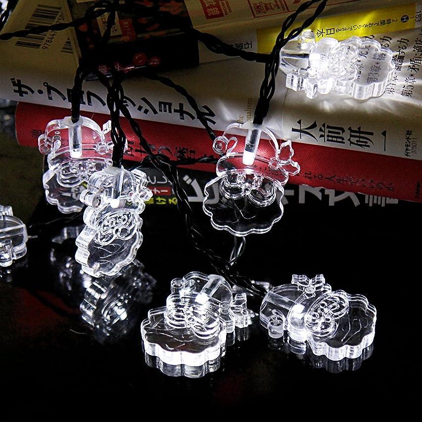 メモ伸ばすインフルエンザledイルミネーションライト ソーラー充電式 光センサー内蔵 電飾 ストリングスライト 防水 ガーデンライト クリスマス ハロウィン 屋内 屋外 防水 フラッシュ点滅モード 自動ON/OFF ツリー飾り エクステリアライト クリスマスツリー デコレーション サンタクロース(ホワイト)
