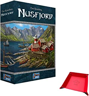 Nusfjord - A Board Game by Uwe Rosenberg. Includes Unique Foldable Playing Piece / Dice Tray Holder Bundled with Game