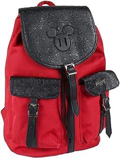 Mochila Casual Travel de Mickey Mouse de Color Rojo - 37 cm   Licencia Oficial Disney Studios, Infantil (CRD-2100002860)