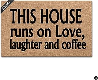 MsMr Doormat Entrance Mat Funny Doormat Home Office Decorative Door Mat Indoor/Outdoor Rubber 30