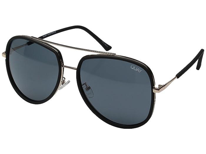 QUAY AUSTRALIA Needing Fame (Black/Smoke) Fashion Sunglasses