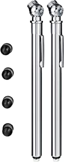 Valve-Loc Pencil Tire Pressure Gauge (2-Pack) 10-50 PSI / kPA   Heavy-Duty Chrome Metal Head and Stainless Steel Body, Mea...