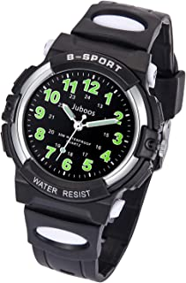 Kids Watch, Child Quartz Wristwatch for Boys Kids Waterproof Time Teach Watches Rubber Band Analog Quartz Children Sport Outdoor Wrist Watches