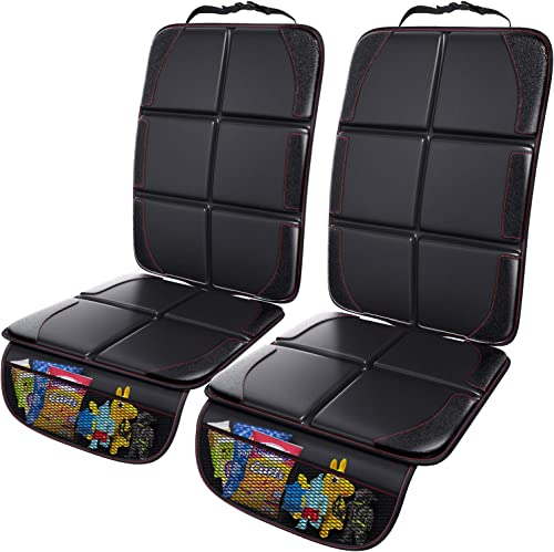 Gimars 2 Pack XL 5-Layer Thickest EPE Padding Car Seat Protector for Child Car Seat, Waterproof seat Protectors with ...