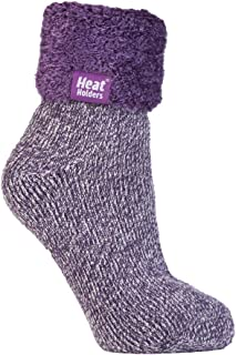 Heat Holders - Lounge Thermal Non Slip Bed Socks With Grip for Women 8 Colours