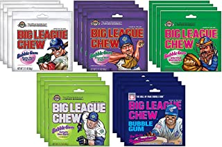 Big League Chew Bubble Gum 5 Flavor Variety Pack (Pack of 20)