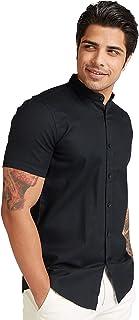 Iconic Men's 2300591 CHUR Regular Shirt, Black