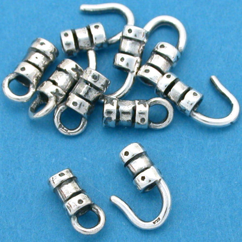 10 St. Silver Hook 70% OFF Outlet Eye Cord Beads Fancy Ends Ultra-Cheap Deals Crimp