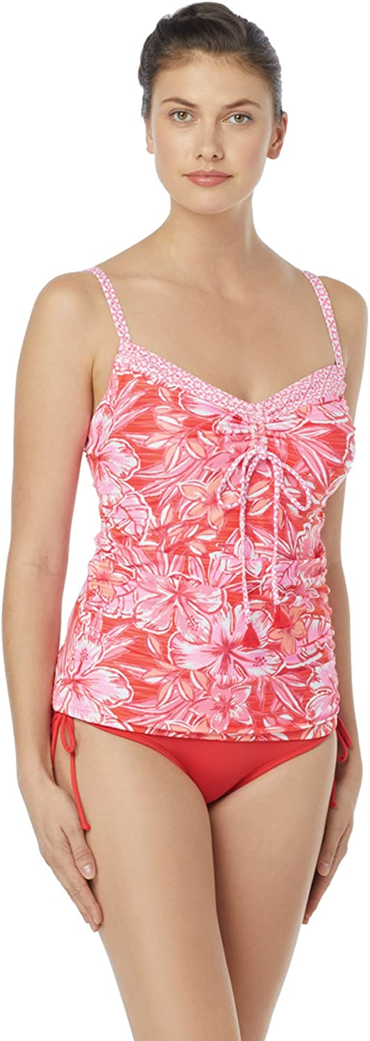Beach House Women's Over The Shoulder Tankini Top Swimsuit
