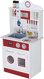 Teamson Kids - Little Chef Madrid Classic Play Kitchen (Red & White)