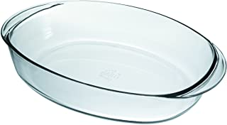 Duralex Made In France OvenChef Oval Baking Dish, 14 by 10-Inch