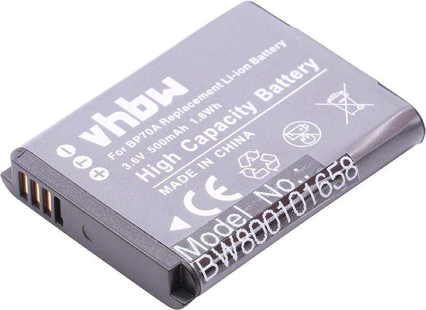 BATERÍA LI-Ion 500mAh Compatible con Samsung PL90 PL120 PL170 PL200 ES73 ES74 ES75 ES78 ES80 ES90 ES91 ST76 etc. Sustituye EA-BP70A