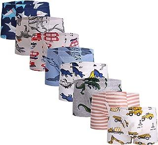 Taxzode Little Boys Soft Cotton Briefs Dinosaur Truck Shark Baby Toddler Kids Underwear 6/8/9 Pack …