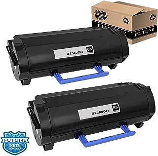 Compatible 2Pk Dell B2360DN M11XH 331-9805 Toner Cartridge Replacement For Dell B2360DN B3465DNF B3460DN B3465DN B2360 Dell 2360 Printers (2/Black) by FUTUNE