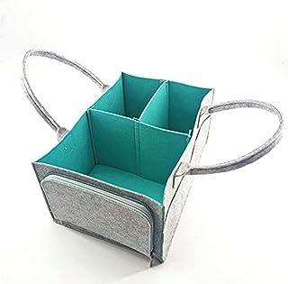 NKB Baby Diaper Bag Caddy Organizer Basket Portable Large Kids Wipes Nursery Storage Bin Essentials Gift for Newborn Girls...
