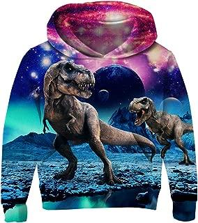 uideazone Boys Girls Hoodies 3D Print Fleece Pullover Hooded Sweatshirts with Pockets 3-13 Years