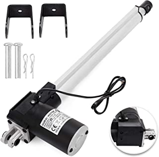 Happybuy 6000N/1320LB Linear Actuator 12 Inch Linear Actuator Stroke 300MM DC 12V Electric Motor Stroke Heavy Duty Linear Actuator with Mounting Brackets