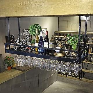 MoDi Casier à vin rétro créatif Suspendu casier à vin Porte-gobelet Bar vin européen à l'envers Support de Verre à vin gob...