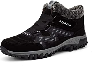 ERHETUS Scarpe da corsa da uomo in pile caldo impermeabile High-Top scarpe da trekking scarpe sportive per uomini e donne