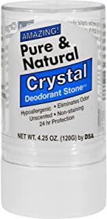 Thai Deodorant Stone Pure and Natural Crystal Deodorant Stone, 4.25 Ounce