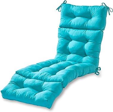 Greendale Home Fashions AZ4804-TEAL Arctic 72 x 22-inch Outdoor Chaise Lounge Cushion