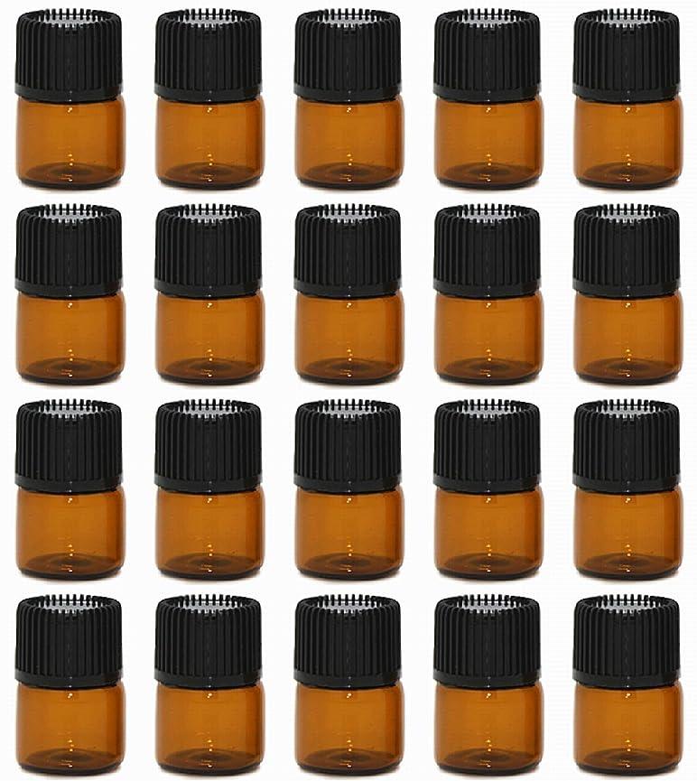 サンダーリール靴【Rurumi】アロマオイル 精油 小分け用 遮光瓶 セット 茶 ガラス アロマ ボトル オイル 用 茶色 瓶 ビン エッセンシャルオイル 保存 詰替え (1ml 20本 セット)