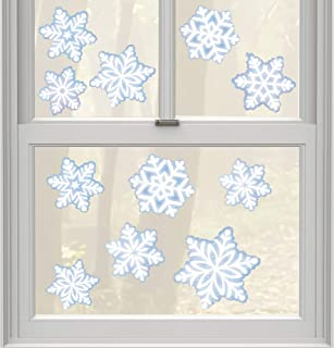 amscan Christmas Snowflake Window Decoration, 11 Ct.   Vinyl