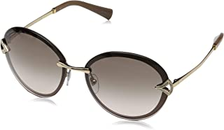 Bvlgari Oval Sunglasses for Women, Grey, 0BV6101B 20373B 61