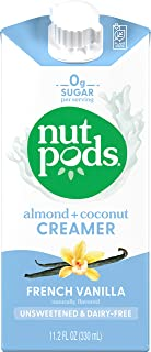 nutpods Dairy-Free Creamer Unsweetened (French Vanilla, 12-pack) - Whole30 / Paleo / Keto / Vegan / Sugar Free 11.2 Fl Oz...