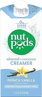 nutpods Dairy-Free Creamer Unsweetened (French Vanilla, 12-pack) - Whole30 / Paleo / Keto / Vegan / Sugar Free 11.2 Fl Oz...