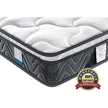 Single ViscoLogic Maxima Comfort Luxurious Organic Cotton Quilted Flippable Foam Mattress Twin